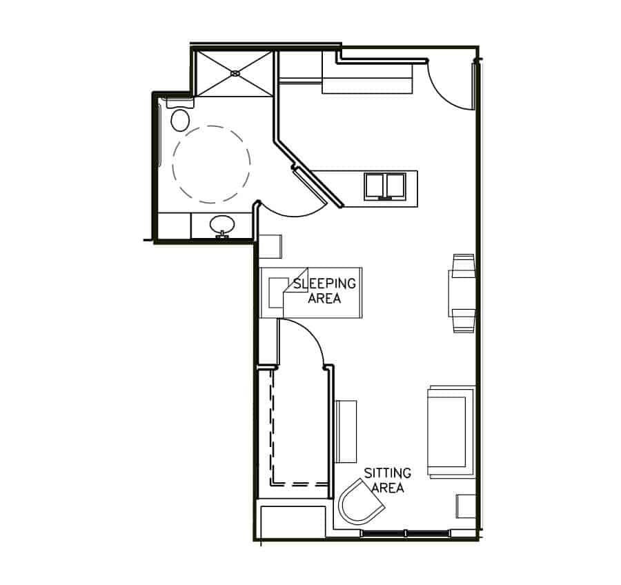 Memory Care Studio Floor Plan